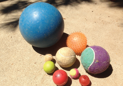 selection of balls